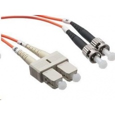 Duplexní patch kabel MM 62,5/125 OM1, SC-ST, LS0H, 2m