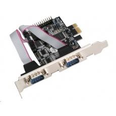 iTec PCI Express karta PCIe 2x serial, 1x parallel