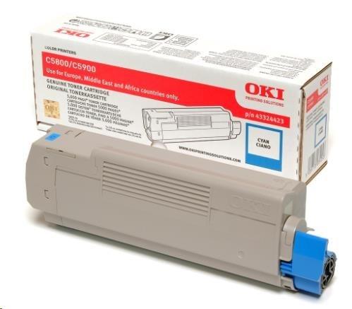 Oki Toner Cyan do C5800/C5900/C5550 MFP (5 000 stránek)