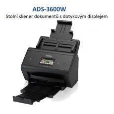 BROTHER skener ADS-3600W DUALSKEN (až 50 str/min, 600 x 600 dpi, LCD,512MB,USB3.0,NFC)Wifi+LAN duplex