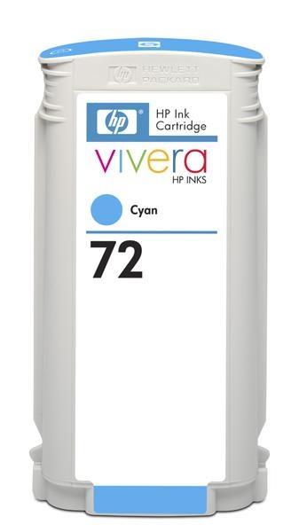 HP 72 Cyan DJ Ink Cart, 130 ml, C9371A