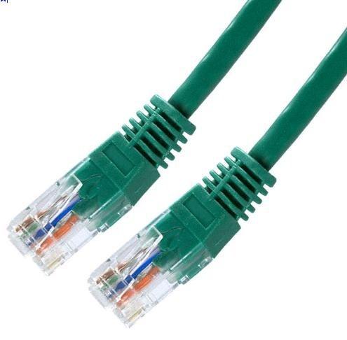 Patch kabel Cat5E, UTP - 5m, zelený