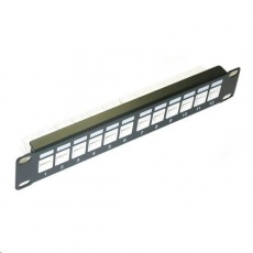 "10"" Patch panel XtendLan 12port, UTP, Cat6, krone, černý"