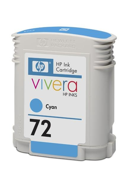 HP 72 Cyan DJ Ink Cart, 69 ml, C9398A