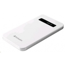 VERBATIM Přenosný ultratenký napájecí zdroj 1x USB / 4200 mAh Power Packs Bílá