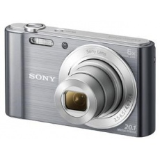 SONY DSCW810S Cyber-Shot 20.1MPix, 6x zoom - stříbrný