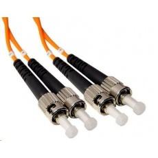 Duplexní patch kabel MM 62,5/125 OM1, ST-ST, LS0H, 3m