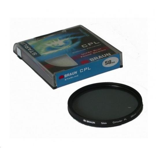 Braun filtr C-PL StarLine 58 mm