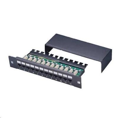 """10"""" Patch panel XtendLan 12port, STP, Cat5E, krone, černý"""