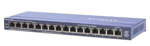 Netgear FS116P ProSafe 16x 10/100 Unmanaged Desktop Switch, 8 portů je PoE