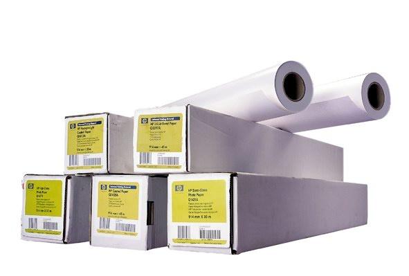 HP Heavyweight Coated Paper-1372 mm x 30.5 m (54 in x 100 ft),  35 lb,  130 g/m2, C6570C