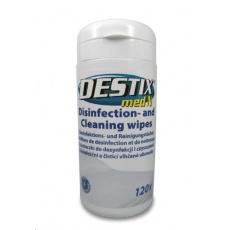 DESTIX Dezinfekční čistící utěrky v dóze MED N, (13x20cm, 120ks), alkoholová báze