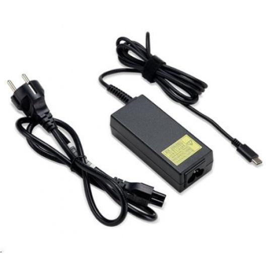 ACER 45W_USB Type C Adapter, Black - pro zařízení s USB C, EU POWER CORD (RETAIL PACK)