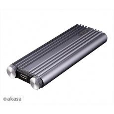 AKASA externí box M.2 PCIe NVMe SSD na USB 3.2 Gen 2x2, Hliníkový kryt