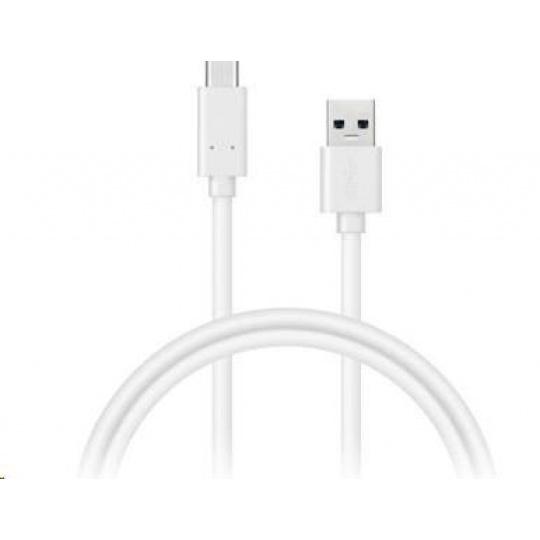 CONNECT IT Wirez USB-C (Type C) - USB, bílý, 0,5 m