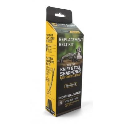 Work Sharp - Belt Kit for X65 Coarse  PP0003206 (new U242 belt) Qty 5 - náhradní brusné pásky