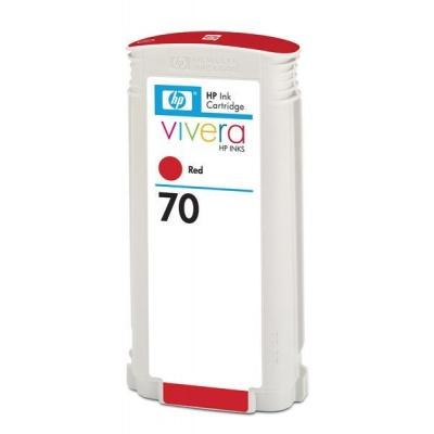 HP 70 Red DJ Ink Cart, 130 ml, C9456A