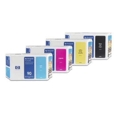 HP 90 Yellow DJ Ink Cart, 400 ml, C5065A