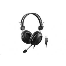 A4tech sluchátka HU-35, USB, černá