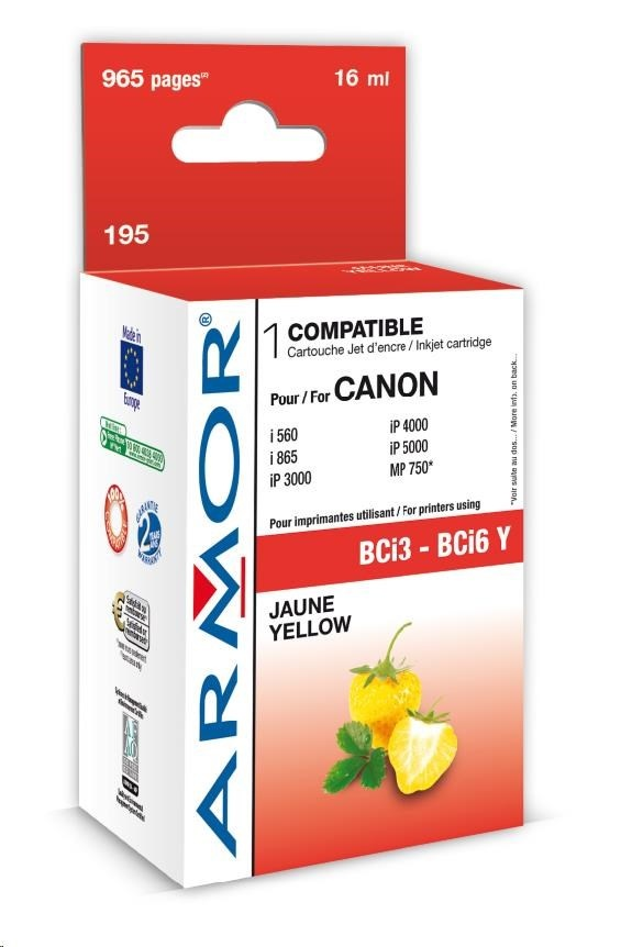 ARMOR cartridge pro CANON S800/900/i860/i960 Yellow (BCI-6/3Y)