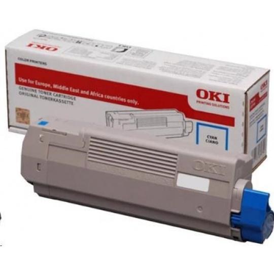 OKI Cyan toner do C532/C542 a MC563/MC573 (6 000 stránek)