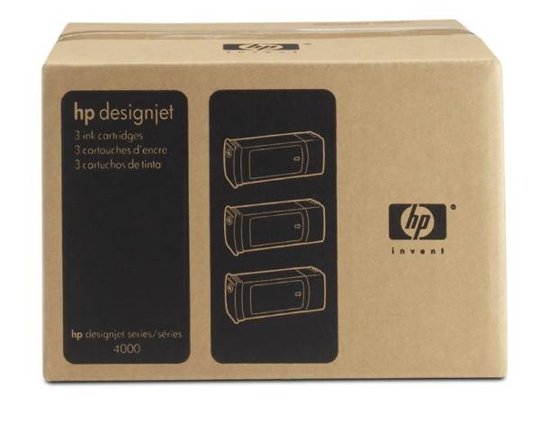 HP 90 Cyan DJ Ink Cart, 400 ml, 3-pack, C5083A