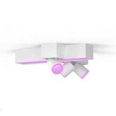 PHILIPS 3bodové zkřížené stropní světlo Centris, Hue White and Color ambiance, 3x5.7W GU10, Bílá