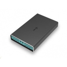 iTec MySafe USB-C/USB-A 2x M.2 SATA Drive Metal External case with RAID 10Gbps