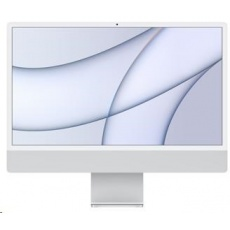 APPLE 24-inch iMac with Retina 4.5K display: M1chip with 8-core CPU and 8-core GPU, 512GB - Silver/ numtouchbar