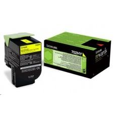 LEXMARK Yellow toner 702HY pro CS310/410/510 z programu Lexmark Return (3 000 stran)