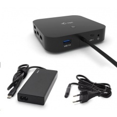iTec USB-C Dual Display Docking Station s Power Delivery 65W + Universal Charger 77 W,