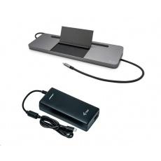 iTec USB-C Metal Ergonomic 4K 3x Display Docking Station with Power Delivery 85 W + i-tec Universal Charger 112 W