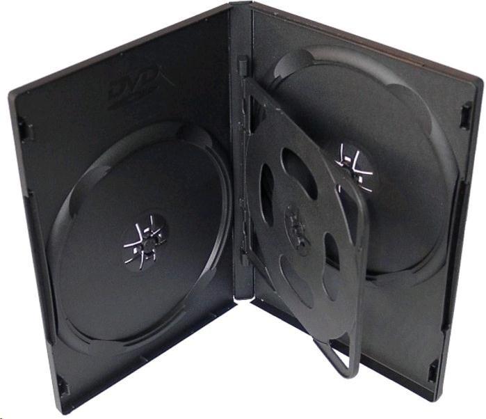 OEM Krabička na 4 DVD černá 100 ks/bal.